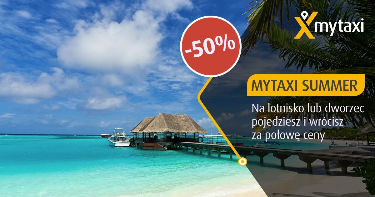 50% taniej na dworzec, lotnisko @ Mytaxi