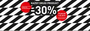 30% rabatu na drugi produkt @ Intersport