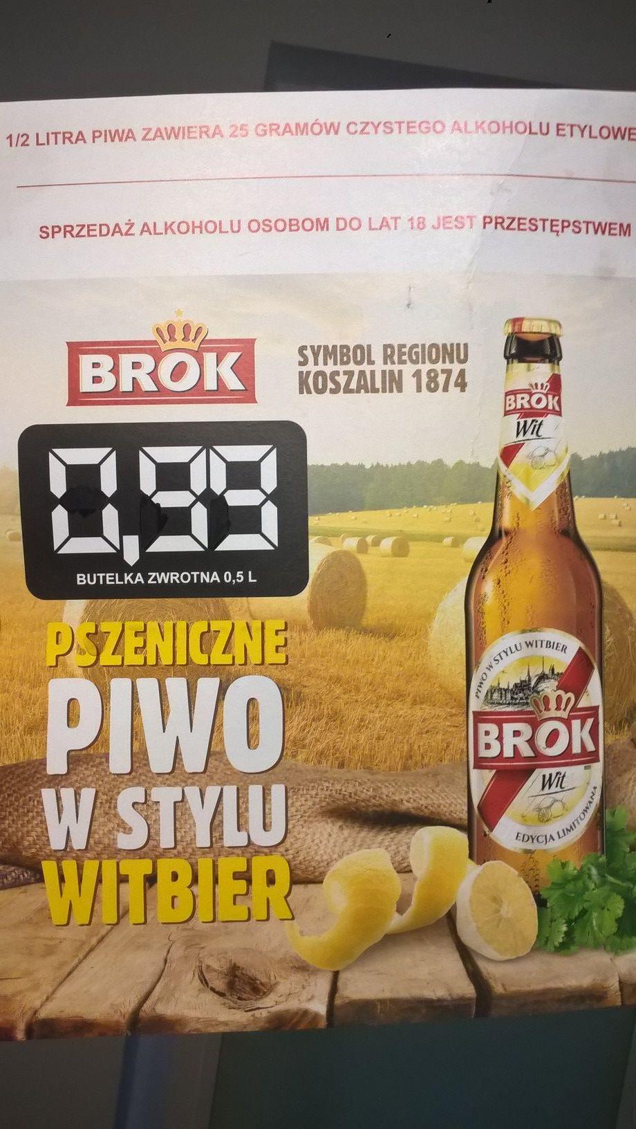 Piwo BROK Wit 500ml | Nowa promocja