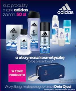 Kosmetyczka i torba prezentowa gratis przy zakupie produktów Adidas za 50zł @ Hebe