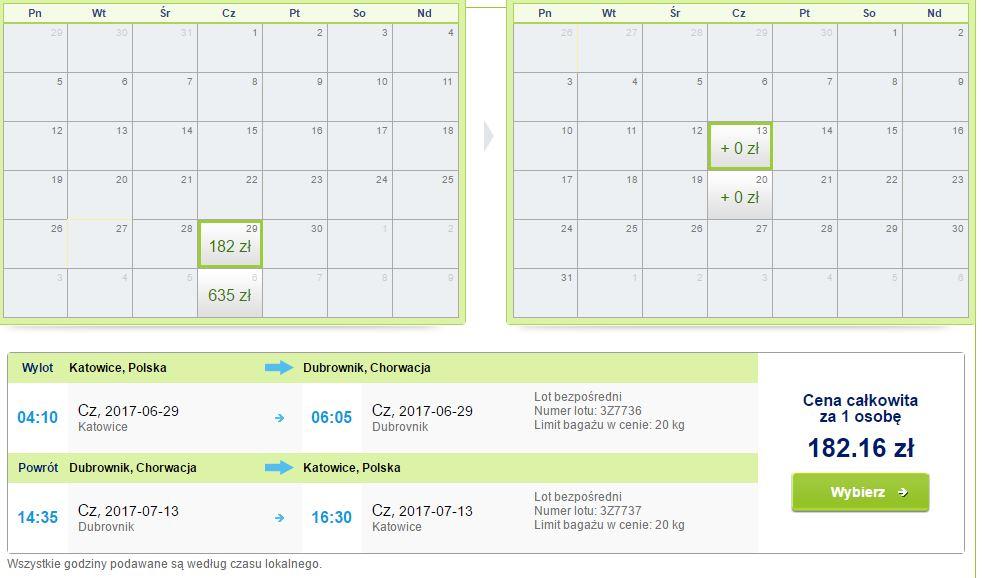 Bilety lotnicze Katowice - Dubrovnik (Chorwacja) - Katowice za 135zł (z bagażem!) @ Rainbow