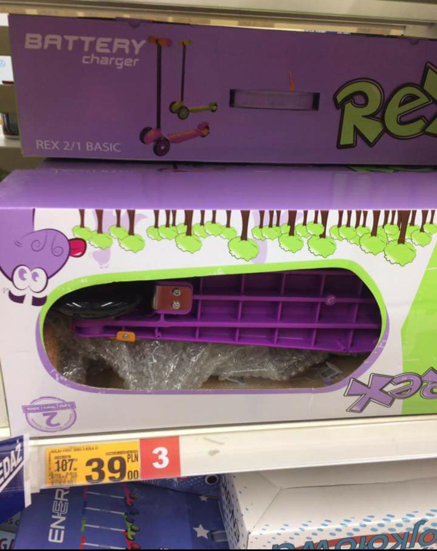 Hulajnoga Rex z ładowarką Auchan