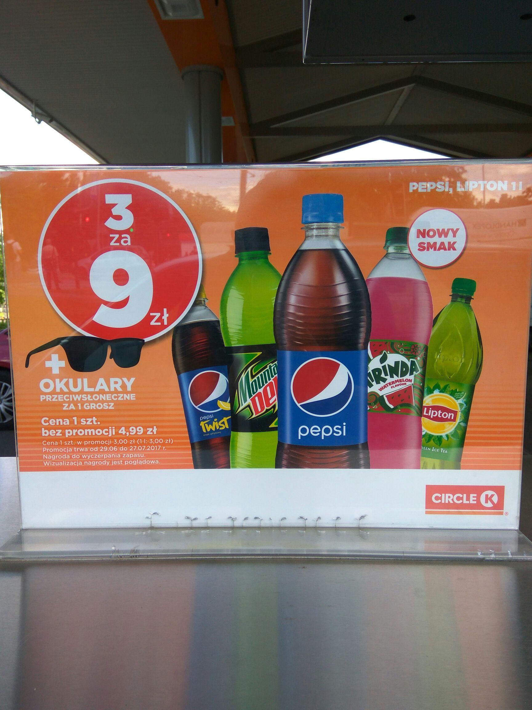 Pepsi 3x1L za 9zl plus okulary za 1gr na STATOIL (CIRCLE K)