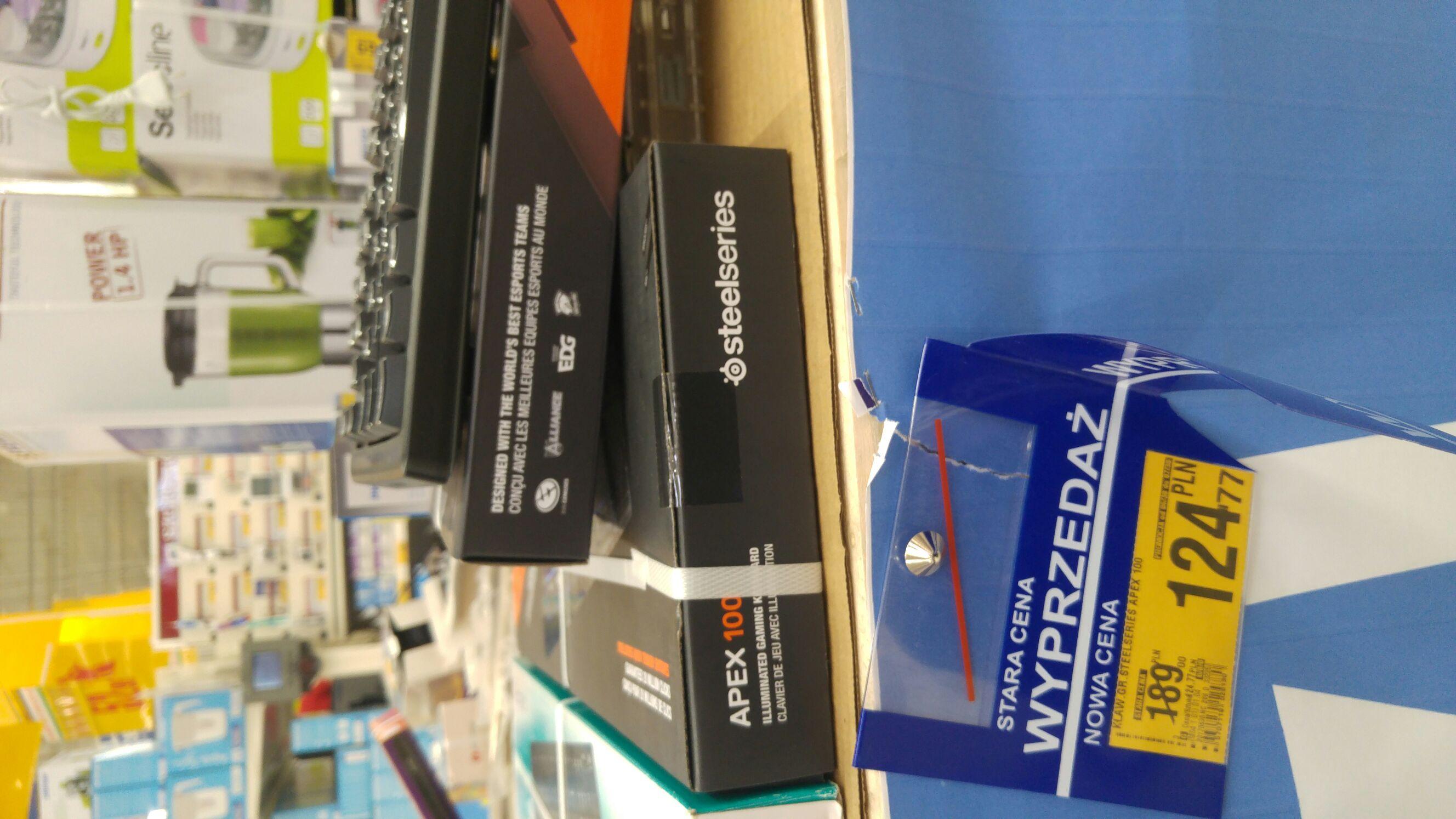 Klawiatura dla graczy SteelSeries Apex 100 @Auchan Kołbaskowo