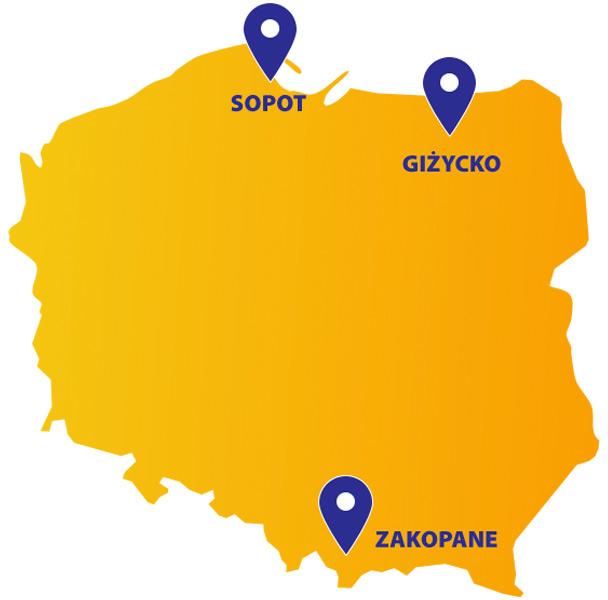 Visa kino letnie Sopot Zakopane Giżycko projekcje filmowe za darmo.