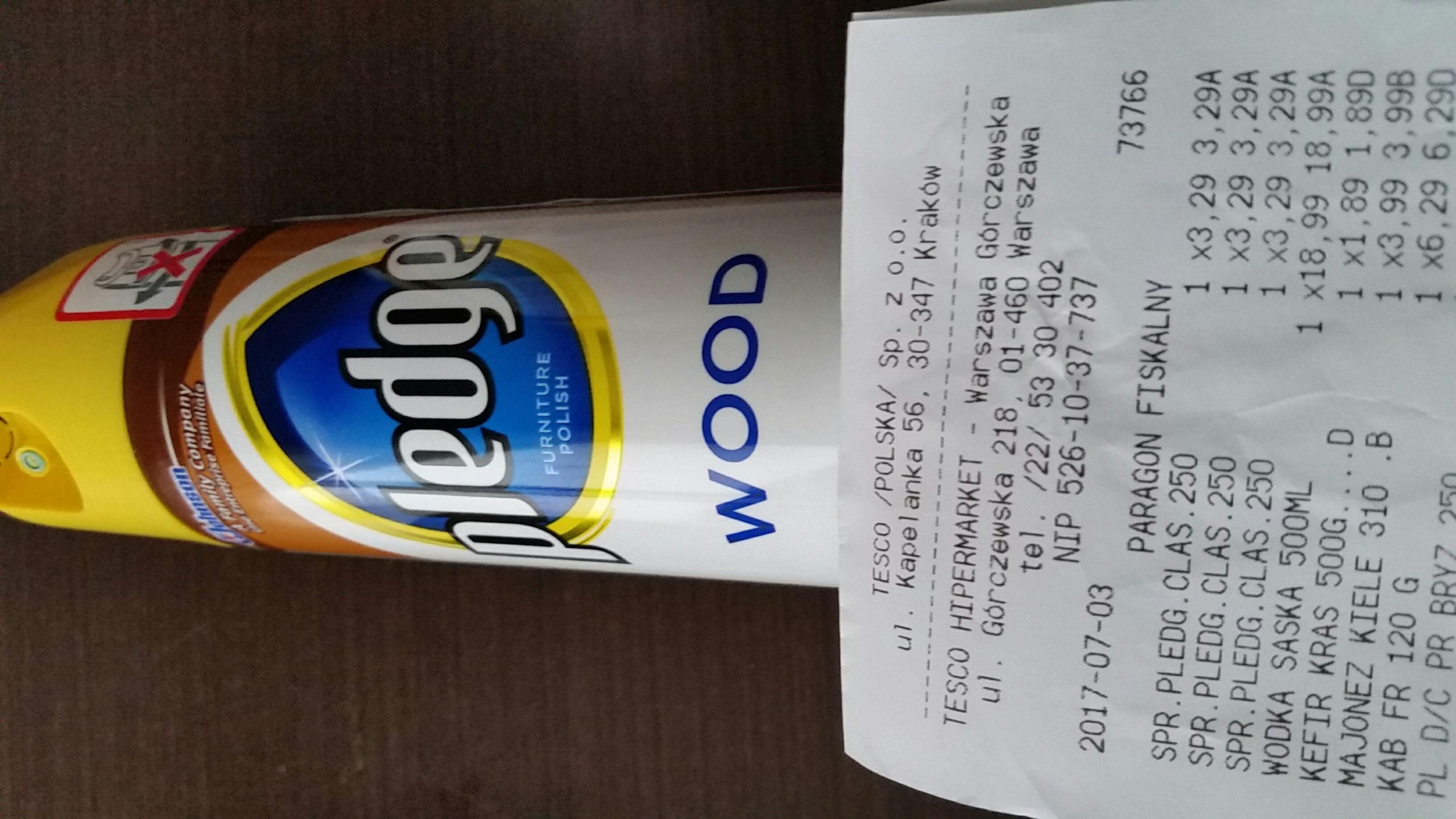 Tesco Spray do czyszczenia drewna Pledge