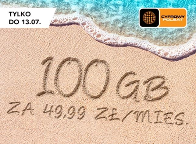 100 GB internetu LTE za 49,99 zł w Cyfrowym Polsacie
