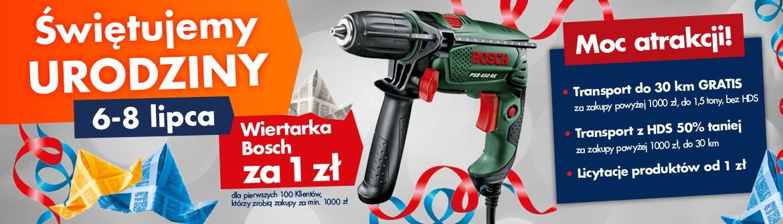 Wiertarka Bosch PSB450 RE gratis do zakupów za minimum 1000zł @ Bricoman