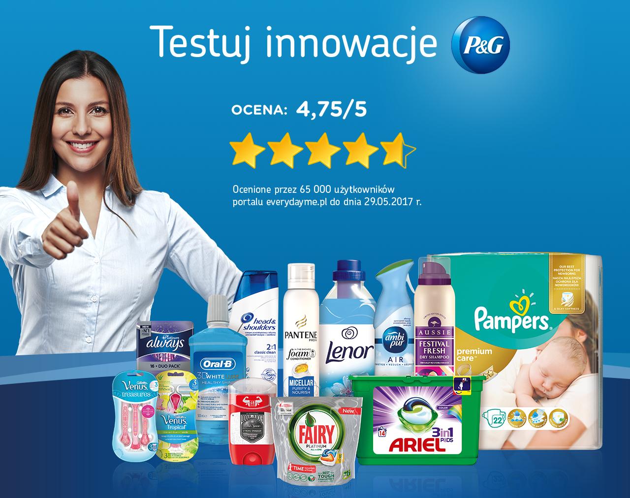 Zwrot za zakupy w Carrefour wybranych produktów firmy Procter&Gamble