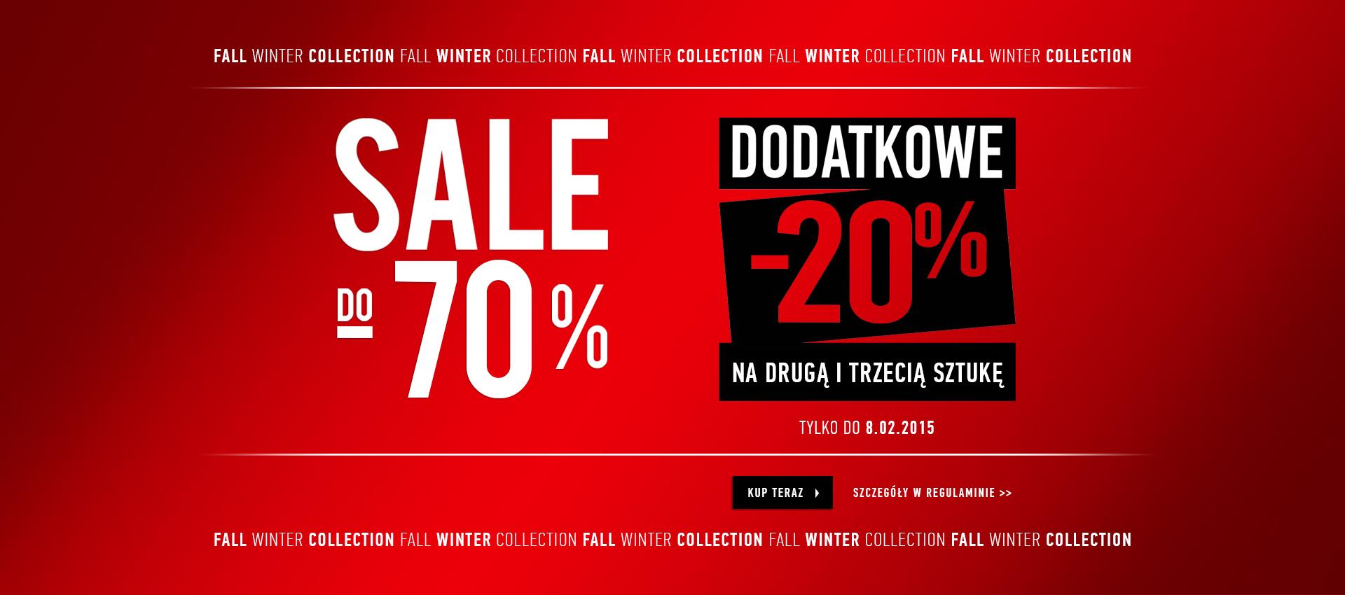 Dodatkowy rabat 20% na 2 i 3 produkt z wyprzedaży @ Vistula