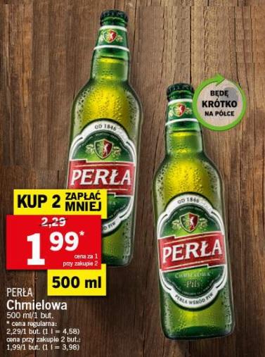 Piwo Perła Chmielowa - Lidl