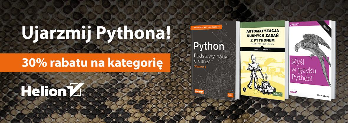 Ujarzmij Pythona! Kategoria -30% @ Helion