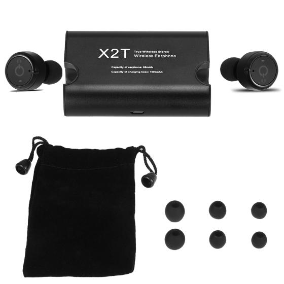 Bezprzewodowe słuchawki douszne X2T True Wireless Stereo Earbuds za ~65,50zł z wysyłką @ Cafago