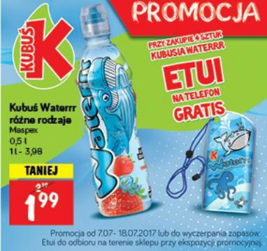 Etui na telefon gratis przy zakupie 4 sztuk Kubusia Waterrr @ POLOmarket