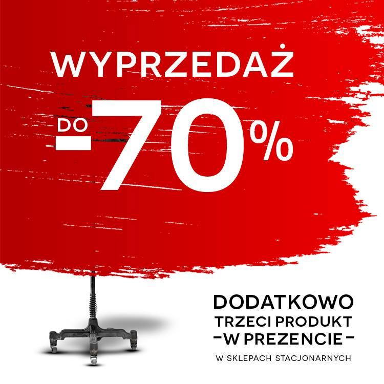 Wyprzedaż do -70% i 3 produkt w prezencie @ Bytom