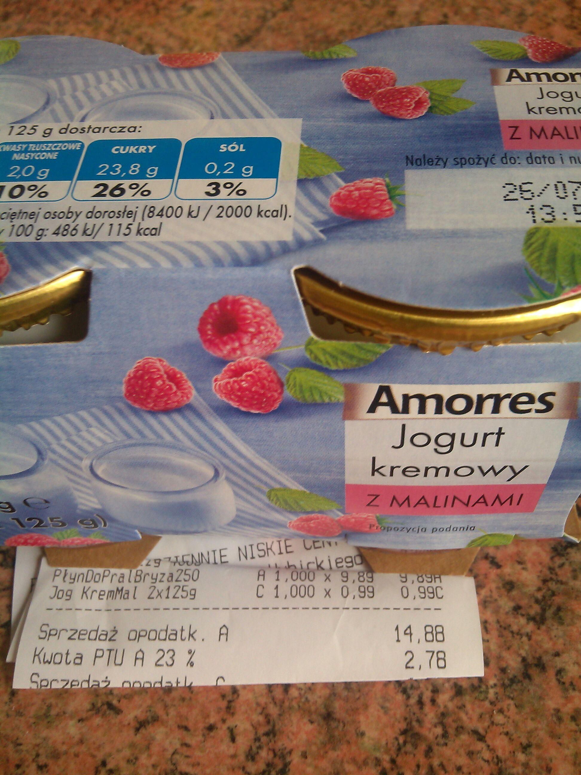 Jogurt kremowy Amorres 0.99 zł @ Biedronka