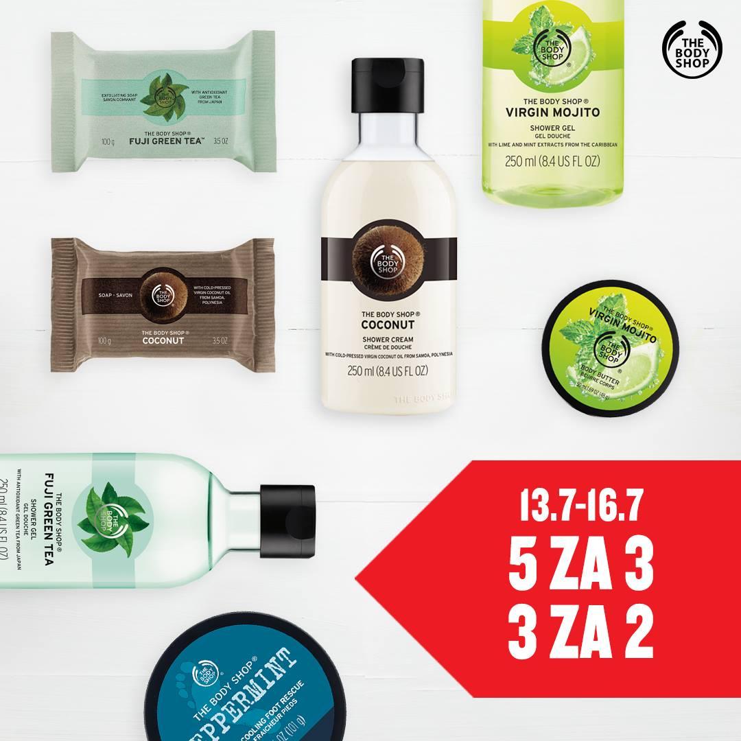 5 za 3 oraz 3 za 2 na cały asortyment @ The Body Shop