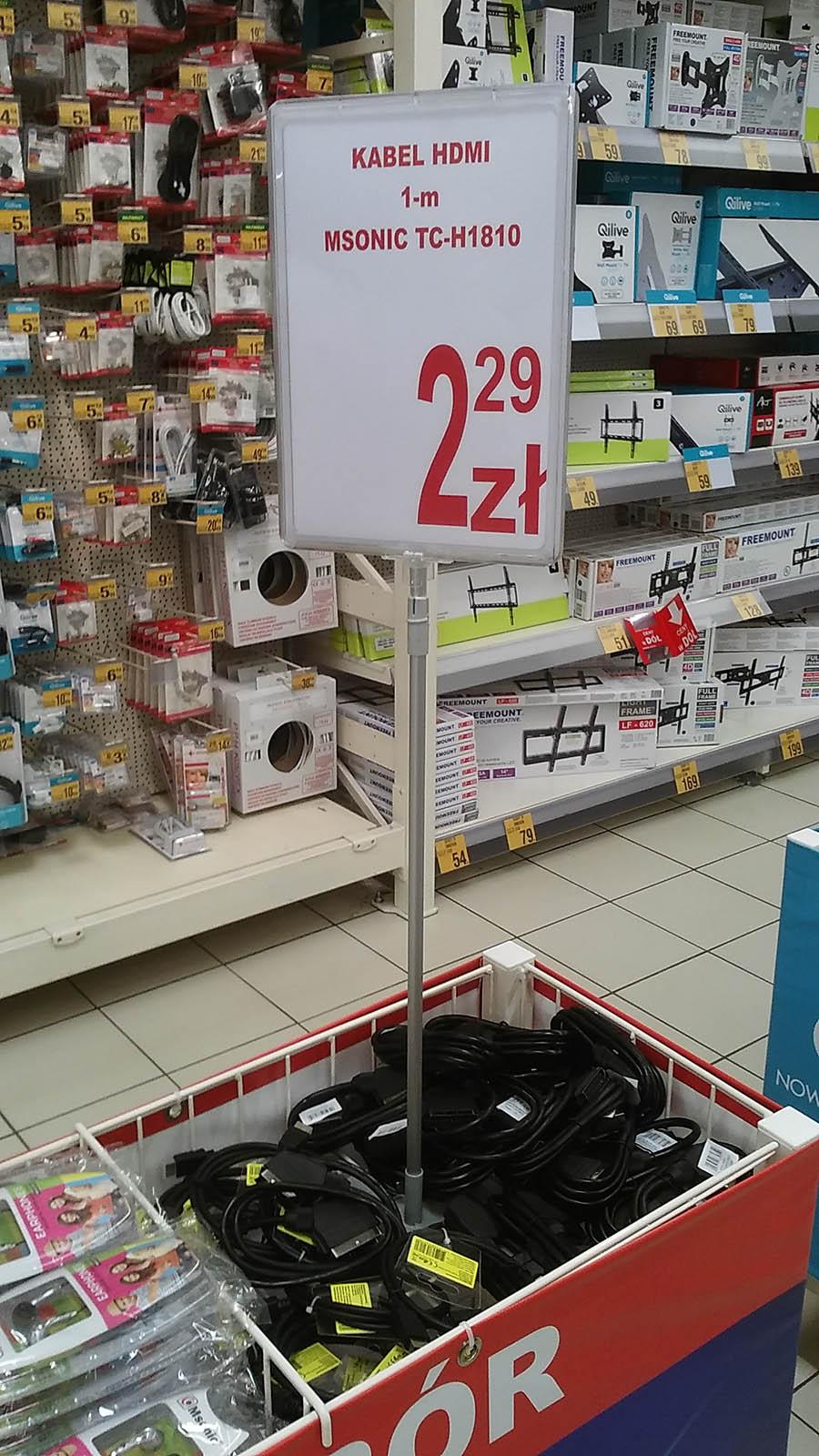 Kabel HDMI 1 metr MSONIC - Auchan Żory