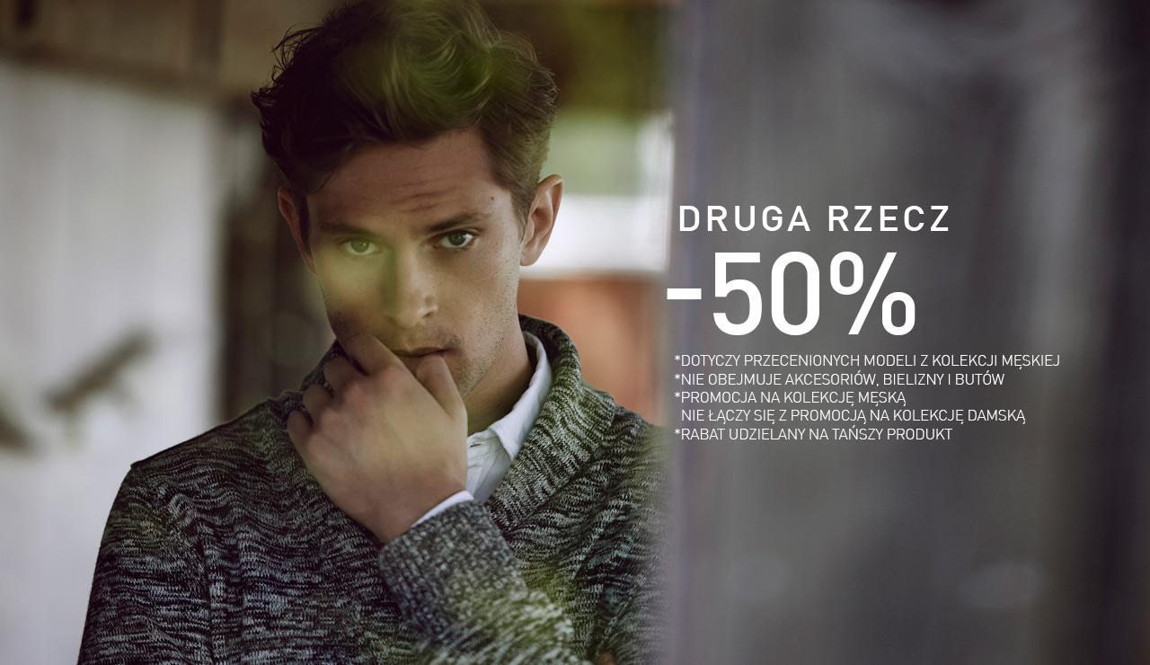 Rabat 50% na drugą rzecz @ Reserved