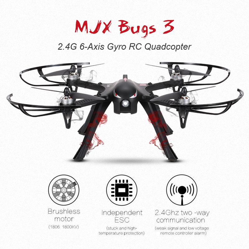 MJX Bugs 3 RC - bezszczotkowe silniki, możliwość zamontowania kamery sportowej 160zł taniej @ Cafago