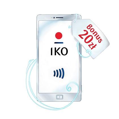 20zł za płatność HCE aplikacją PKO IKO (MWZ 50zł)