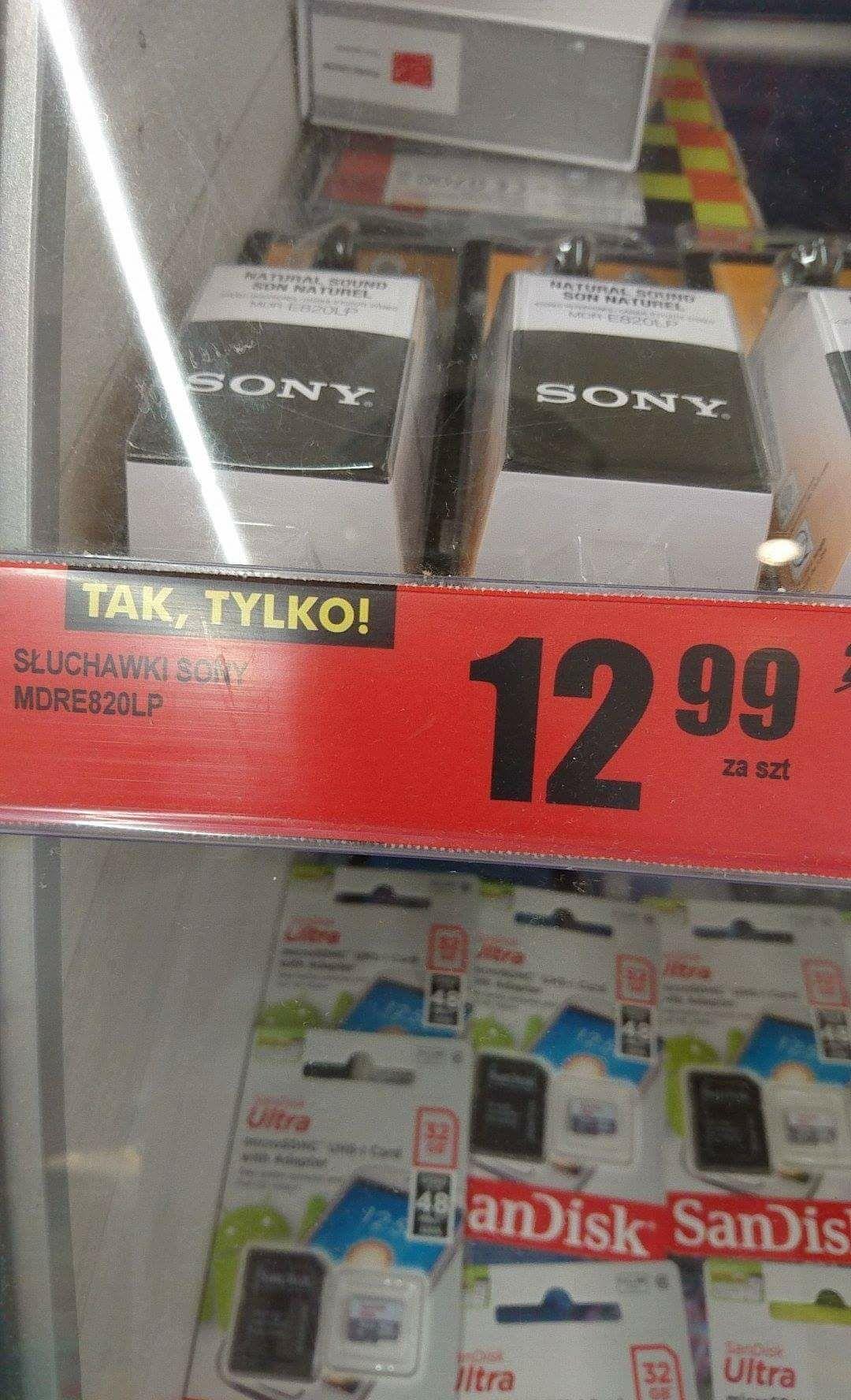 Słuchawki Sony Tanio Biedronka