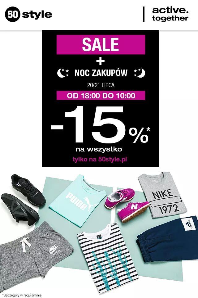 Nawet 85% obniżki ! Noc zakupów w 50style.pl