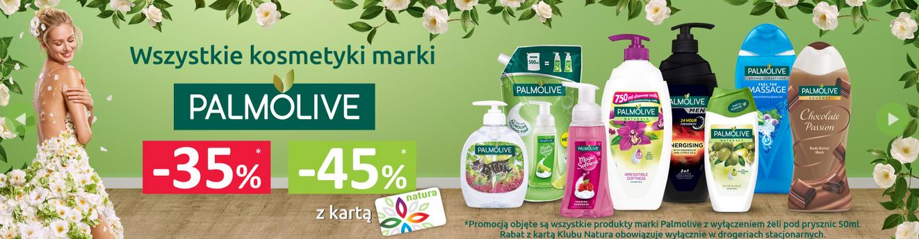 3 w cenie 2 na wybrane marki oraz 45% rabatu na markę Palmolive @ Natura