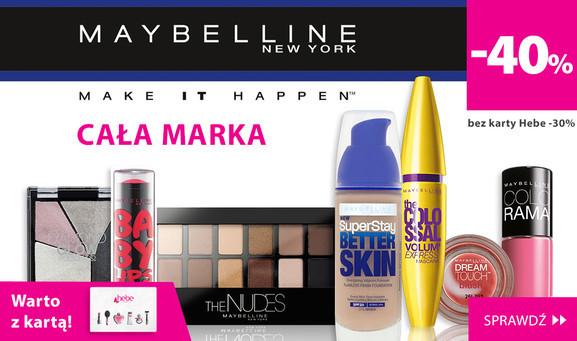 -40% na markę Maybelline (z kartą) @ Hebe