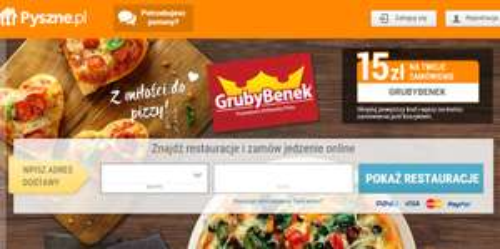 -15zł na zamówienie w pizzerii Gruby Benek @ Pyszne.pl