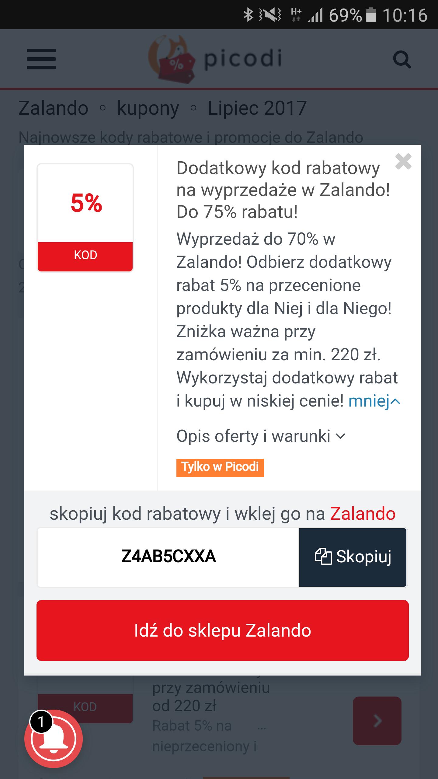 5% zniżki - Zalando