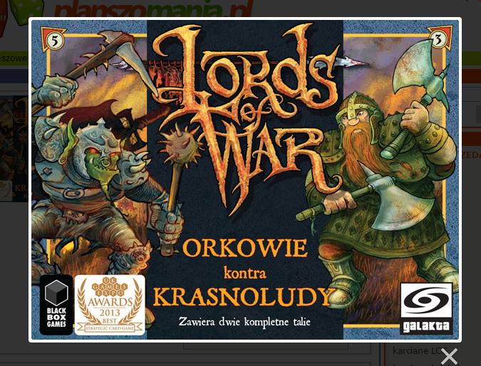 Gra karciana - Władcy Wojny -78% taniej