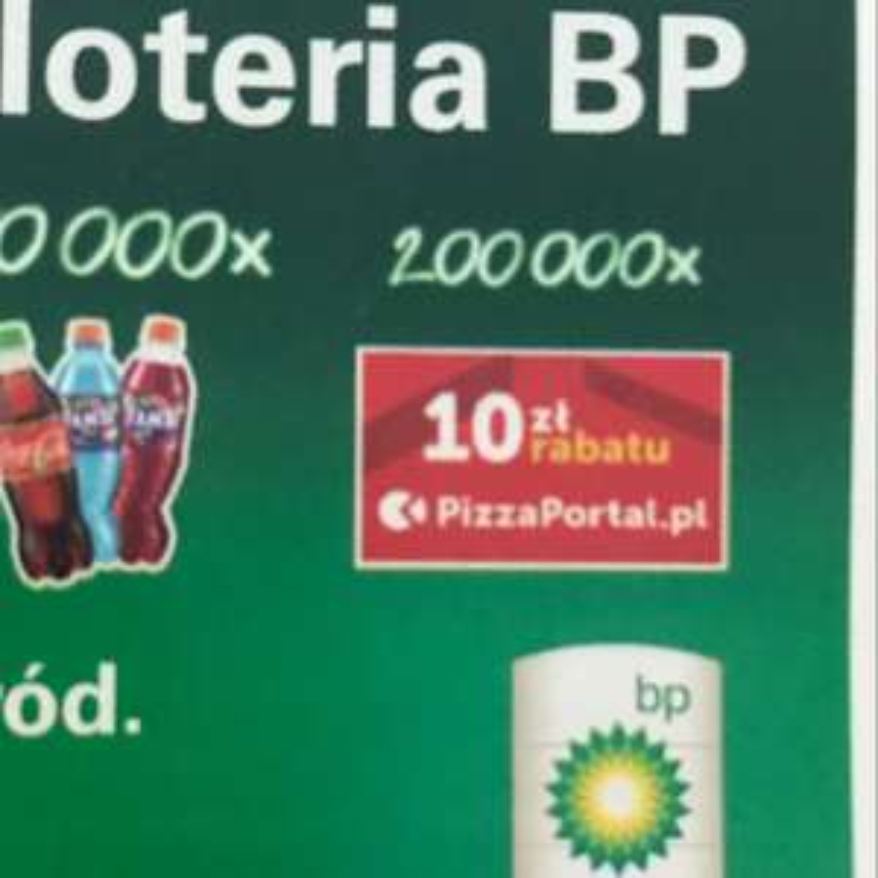 Pizzaportal kod 10 zł, loteria BP