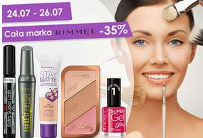 [24-26.07] 35% rabatu na całą markę Rimmel @ Natura