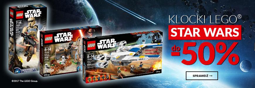 LEGO, LEGO STAR WARS do 50% - EMPIK