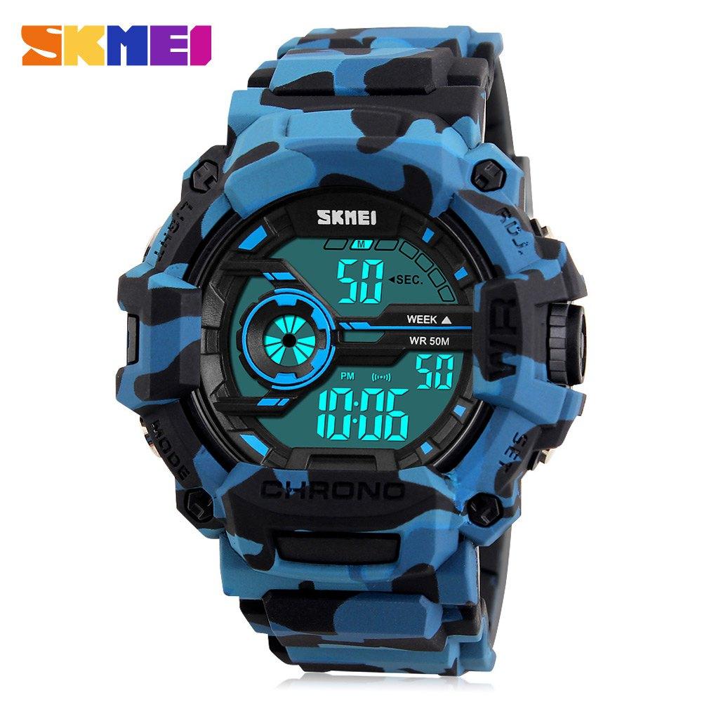Zegarek SKMEI 1233 (niebieski kamuflaż, wodoodporność do 50m) @ Rosegal