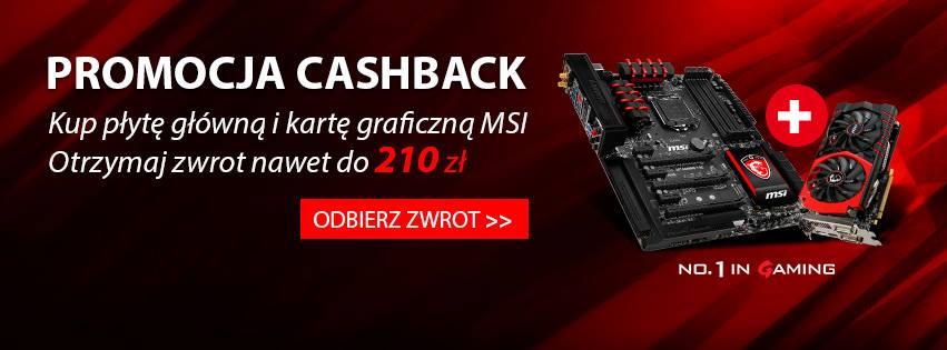 Zwrot gotówki za zakup płyty głównej + karty graficznej (nawet 210zł) @ MSI
