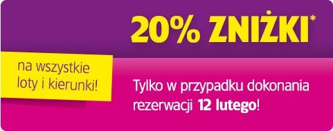 20% dla wszyskich i na wszystkie loty @ Wizzair