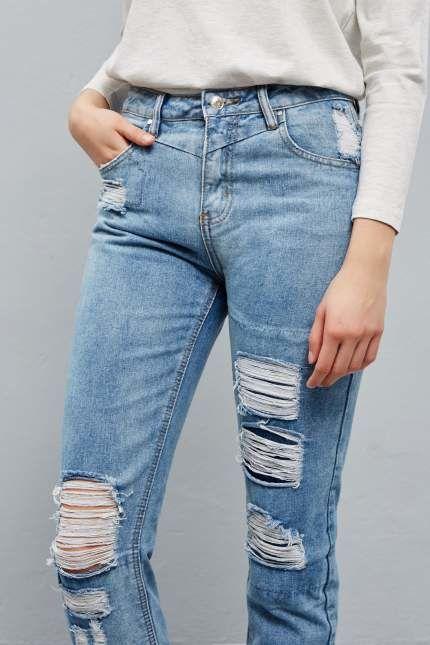Damskie spodnie dżinsowe przecenione o 100zł (2 rozmiary XL i XS)@ Moodo