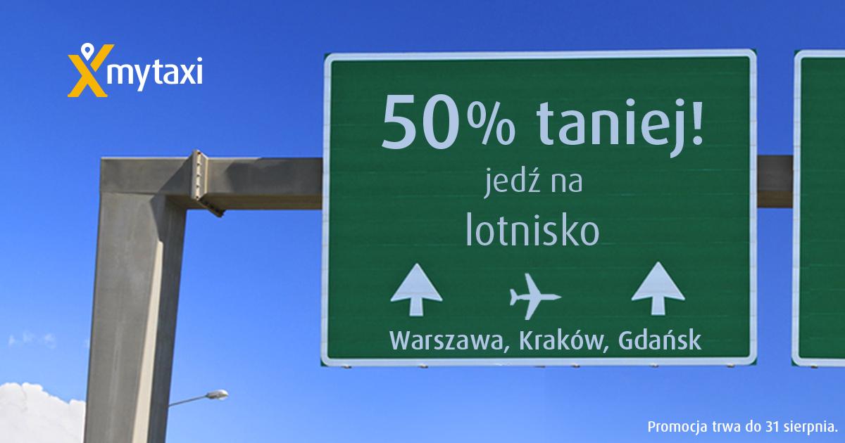 Na dworce i lotniska 50% taniej @ MyTaxi