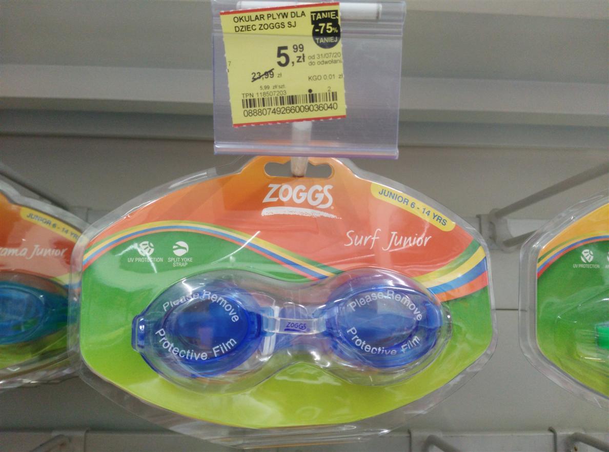 ZOGGS - okulary i inne akcesoria do pływania -75%  Tesco