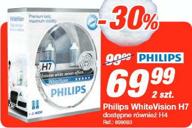 Żarówki Philips WhiteVision H7 za 69,99 zł @ Norauto