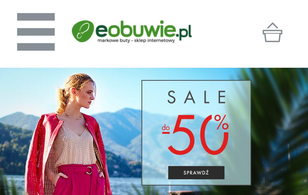 Wyprzedaż do -50% na www.eobuwie.com.pl