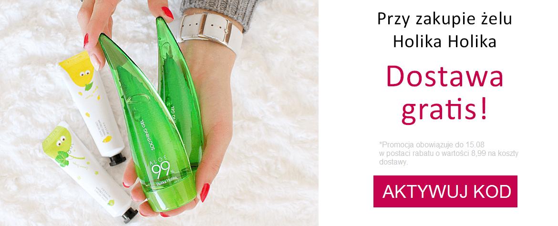 Ekobieca - kod rabatowy na darmową dostawę przy zakupie żelu aloesowego Holika Holika