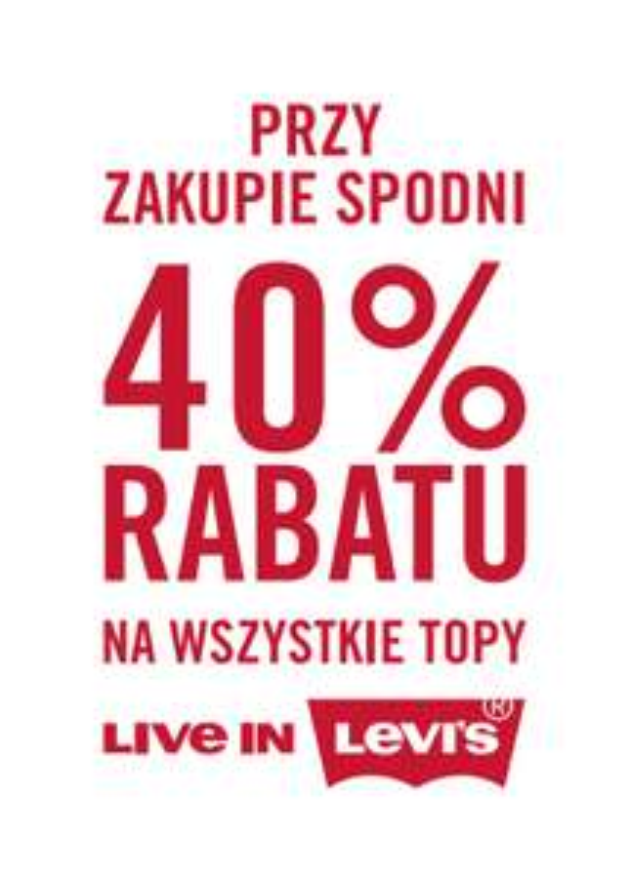 -40% na topy przy zakupie spodni @ Levi's