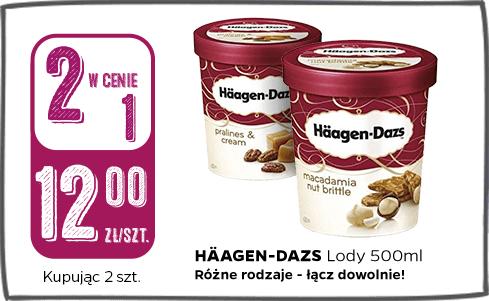 Lody Haagen Dazs 500ml różne smaki -50% Frisco.pl