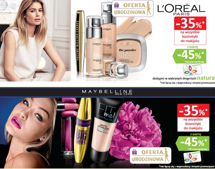 -45% na wybrane marki (Loreal, Maybelline) + inne promocje @ Natura