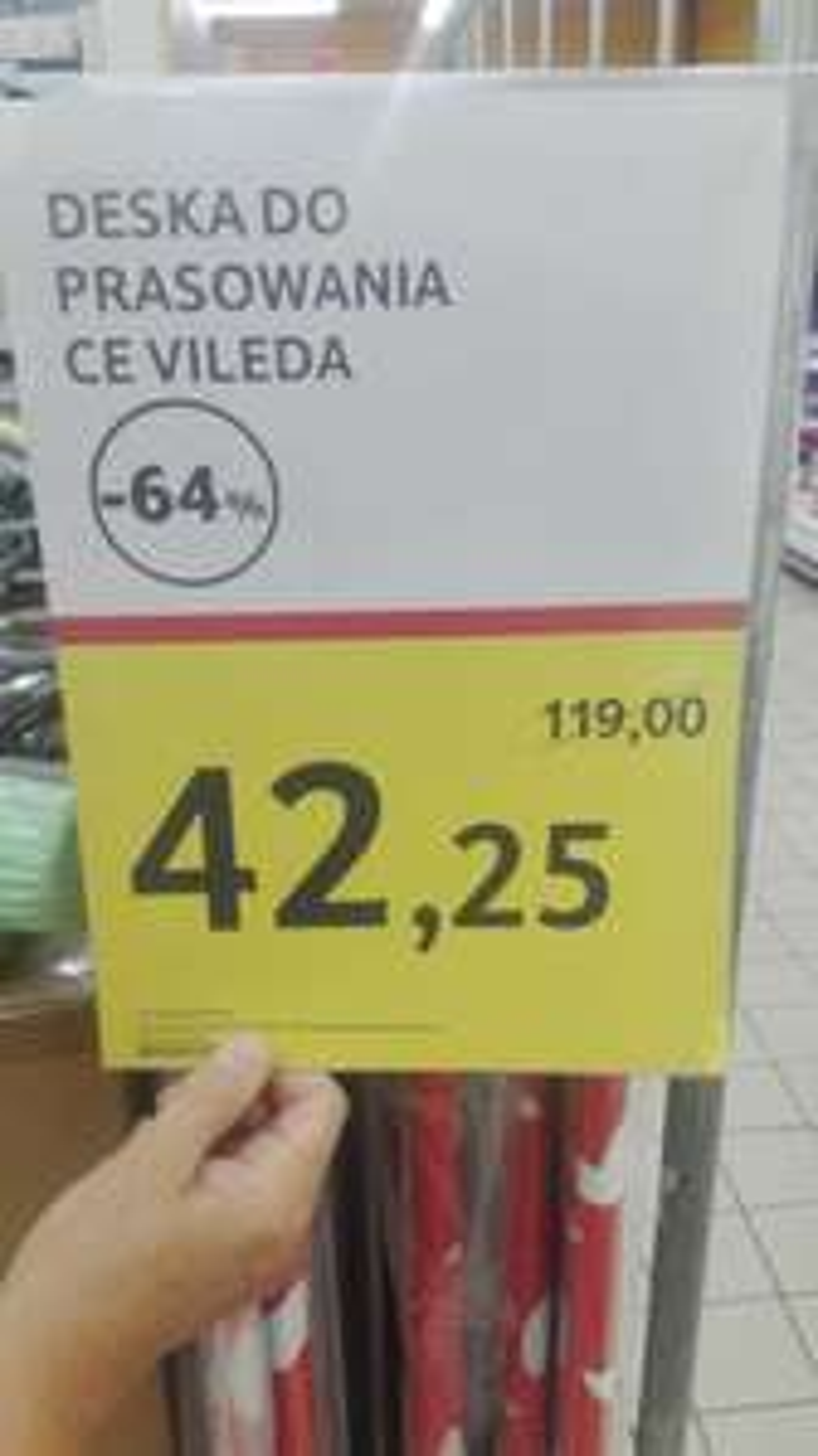 DESKA DO PRASOWANIA VILEDA 42,25zł !!! -64%/ TESCO
