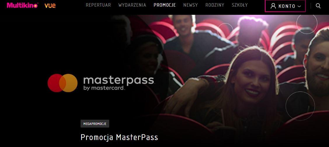 Drugi bilet na film 2D za darmo przy płatności Masterpass @ Multikino