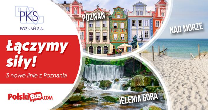 Nowe linie PolskiBus z Poznania do Pobierowa lub do Jeleniej Góry za 1zł